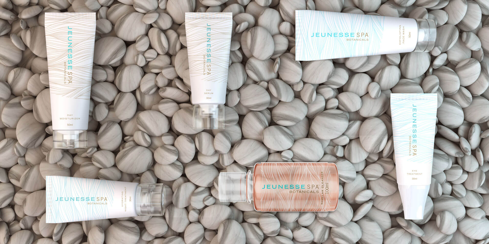 Jeunesse spa botanicals on rocks