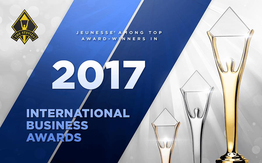 Jeunesse Global  Wins 12 Stevie Awards in 2017 International Business Awards