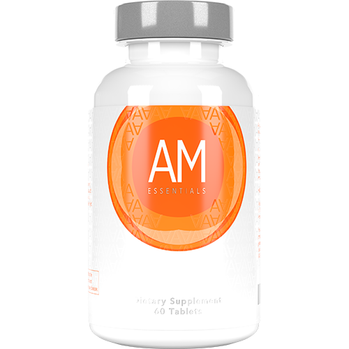 AM Essentials Product Image with Ingredients