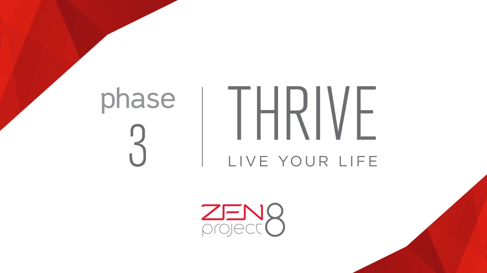 Jeunesse Global Zen Project 8: Phase 3 Thrive